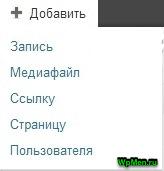 Кнопка Добавить + в WordPress.