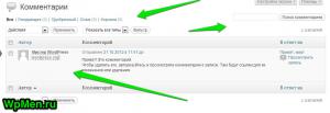Страница редактора Комментариев.