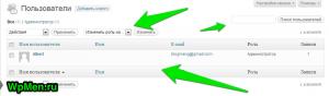 Список пользователей вашего блога на WordPress.