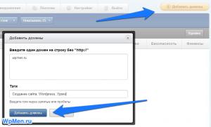 Добавляем домен для мониторинга.