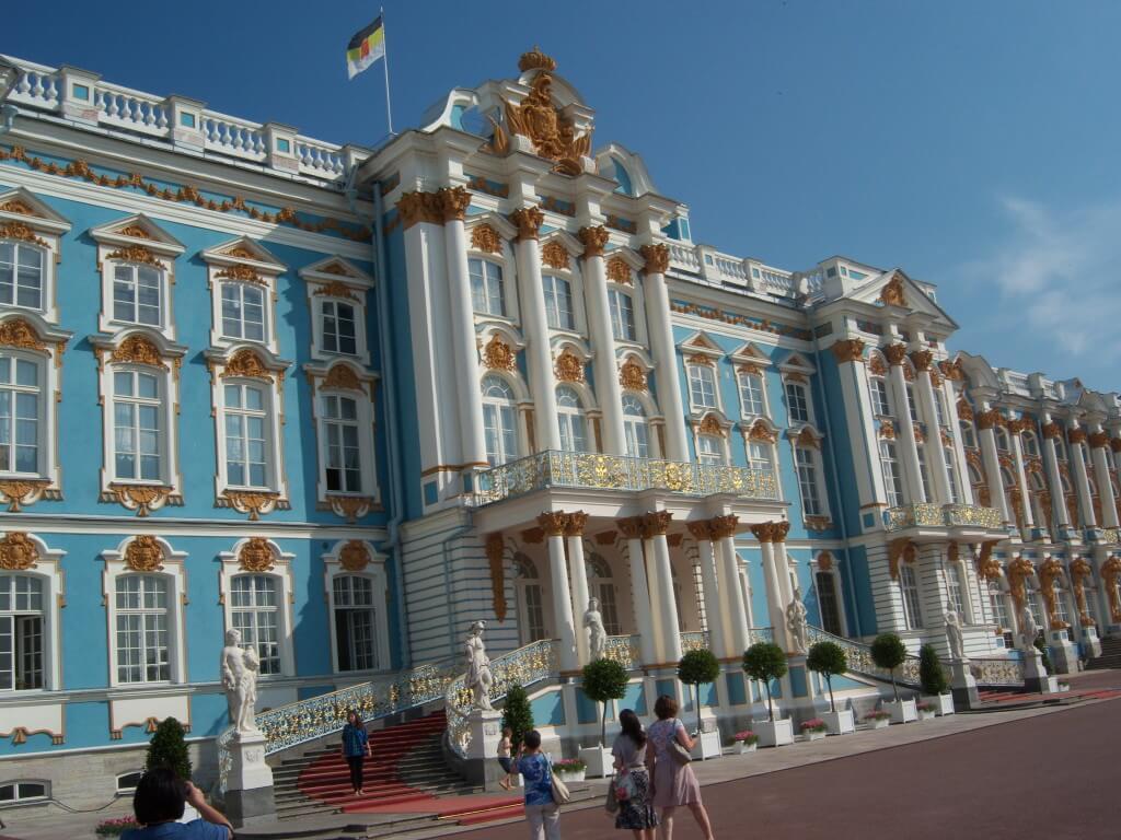WpMen - Центральный вход в здание Царского села.