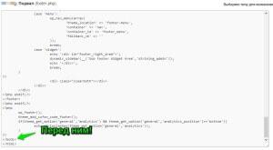 WpMen - Куда скопировать код статистики посещений от Google Analytics.