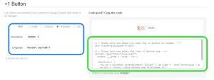 WpMen - Сбор социальных кнопок для сайта. Google +