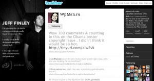 Пример использования собственного дизайна в Twitter