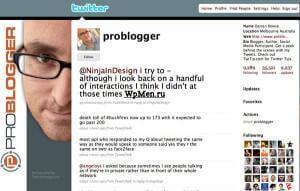 Пример собственного оформления Твиттер страницы