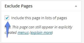 Как удалить страницу из меню