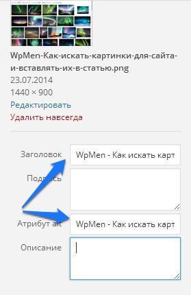 WpMen - Как правильно вставлять картинки на сайт